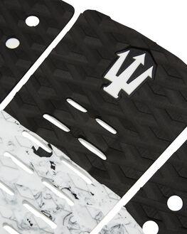 BLACK WHITE SPLATTER BOARDSPORTS SURF FK SURF TAILPADS - 1219BLKWHI