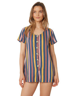 MULTI STRIPE WOMENS CLOTHING THE BARE ROAD PLAYSUITS + OVERALLS - 990741-02MUL