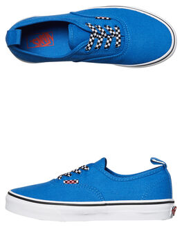 VICTORIA BLUE WHITE KIDS BOYS VANS SNEAKERS - VNA38H4Q6GBLU