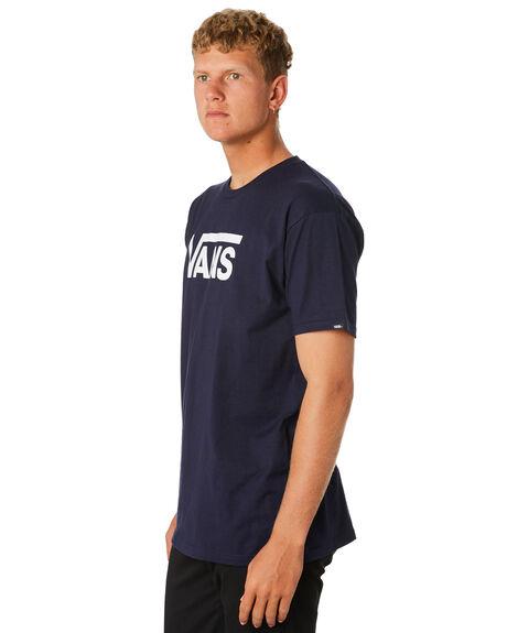 NAVY WHITE MENS CLOTHING VANS TEES - VN-0GGGNAVNVYWH