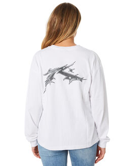 WHITE WOMENS CLOTHING RUSTY TEES - TTL1002WHT