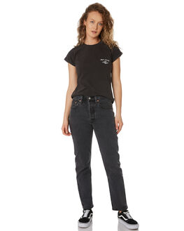 BLACK WOMENS CLOTHING RIP CURL TEES - GTEDJ20090