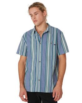 BLUE GREEN STRIPE MENS CLOTHING WRANGLER SHIRTS - 901631MD9