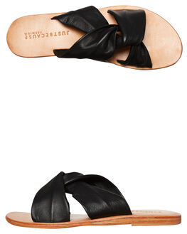 BLACK WOMENS FOOTWEAR JUST BECAUSE FASHION SANDALS - SOLE1183BLK