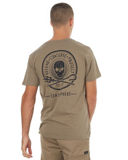 STONE MENS CLOTHING SEA SHEPHERD TEES - SSA830SSTONE