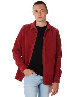 BRICK RED MENS CLOTHING DR DENIM SHIRTS - 1841101414BRED