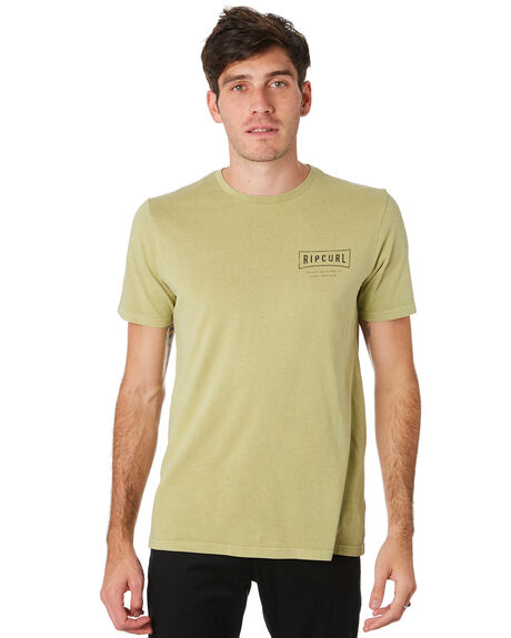 WASHED OLIVE MENS CLOTHING RIP CURL TEES - CTEJF99591