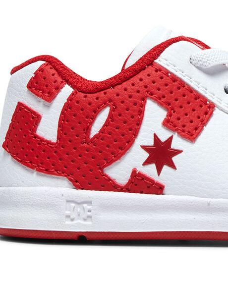 WHITE/TRUE RED KIDS BOYS DC SHOES FOOTWEAR - ADTS700036-WE4