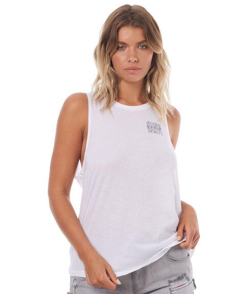 WHITE WOMENS CLOTHING BILLABONG SINGLETS - 6572197WHT