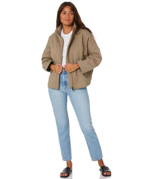 KHAKI WOMENS CLOTHING THE HIDDEN WAY JACKETS - H8204541KHAKI