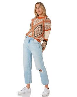 RUST GEO WOMENS CLOTHING O'NEILL KNITS + CARDIGANS - 5921402RGO