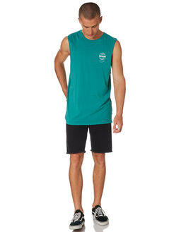 TEAL MENS CLOTHING ST GOLIATH SINGLETS - 4321016TEAL