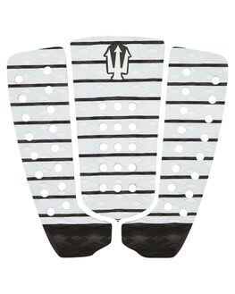WHITE BLACK SURF HARDWARE FAR KING TAILPADS - 1221WHBLK