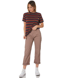MAUVE WOMENS CLOTHING BRIXTON PANTS - 04139MAUVE