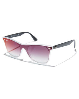 MATTE TRANSPARENT MENS ACCESSORIES RAY-BAN SUNGLASSES - 0RB4440NMTRANS