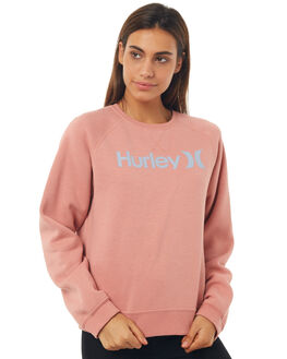 RUST PINK HTR WOMENS CLOTHING HURLEY JUMPERS - AGFL1800H6GM