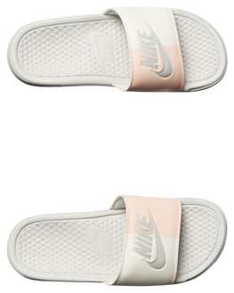 LIGHT BONE WOMENS FOOTWEAR NIKE SLIDES - 343881-005