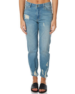 ANITAQUE BLUE WOMENS CLOTHING MINKPINK JEANS - MD1611932ANTBL
