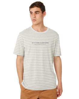GREY MARLE MENS CLOTHING RHYTHM TEES - OCT18M-CT05-GRY