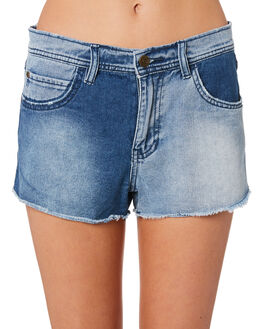 MID BLUE WOMENS CLOTHING ELEMENT SHORTS - 284353M03
