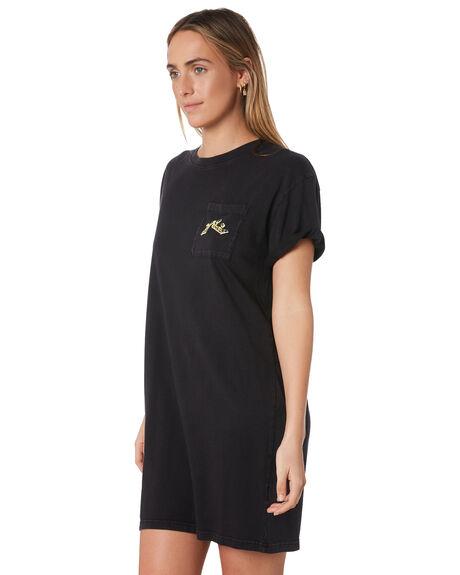 BLACK WOMENS CLOTHING RUSTY DRESSES - DRL0990BLK