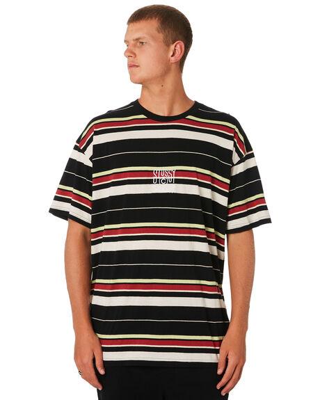 BLACK MENS CLOTHING STUSSY TEES - ST091103BLK