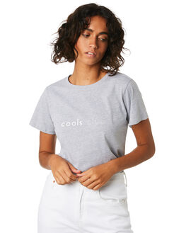 GREY MELANGE WOMENS CLOTHING COOLS CLUB TEES - 101-CW2GRY