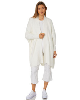 WHITE WOMENS CLOTHING ZULU AND ZEPHYR KNITS + CARDIGANS - ZZ2429WHT