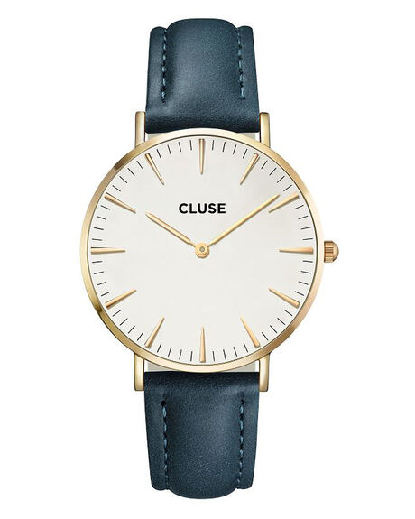 GOLD WHITE PETROL MENS ACCESSORIES CLUSE WATCHES - LCL18416GD