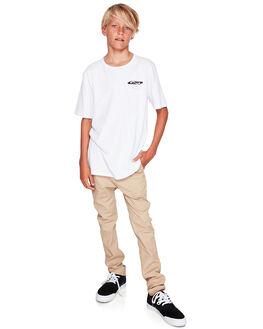 WHITE KIDS BOYS QUIKSILVER TOPS - EQBZT03943-WBB0