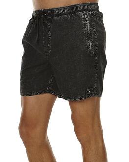 BLACK ACID MENS CLOTHING AFENDS BOARDSHORTS - 09-04-029BLKAC