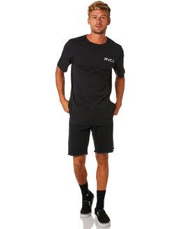 BLACK MENS CLOTHING RVCA TEES - R172060BLK