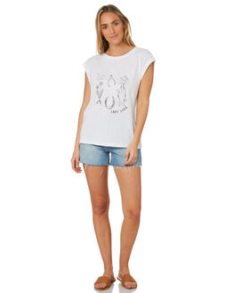 WHITE WOMENS CLOTHING THE HIDDEN WAY TEES - H8202282WHITE