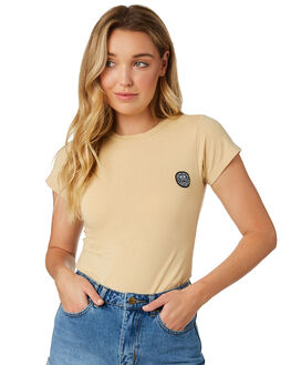 CLAY WOMENS CLOTHING RVCA TEES - R281689CLAY