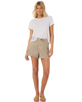 OATMEAL WASH WOMENS CLOTHING THE HIDDEN WAY SHORTS - H8184236OMEAL