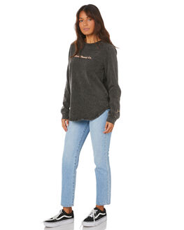 WASHED BLACK WOMENS CLOTHING SILENT THEORY JUMPERS - 6054024WBLK