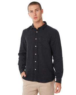 BLACK MENS CLOTHING ACADEMY BRAND SHIRTS - BA801BLK