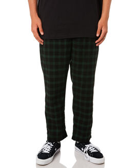 GREEN BLACK MENS CLOTHING STUSSY PANTS - ST095608GRNBLK