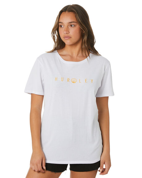 WHITE WOMENS CLOTHING HURLEY TEES - HAGTS21OPH100