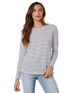 NAVY STRIPE WOMENS CLOTHING NUDE LUCY TEES - NU23033SNVYS