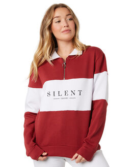 BURGUNDY WOMENS CLOTHING SILENT THEORY JUMPERS - 6034022BURG