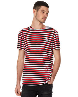 BRIGHT RED MENS CLOTHING CHEAP MONDAY TEES - 0443166BRED