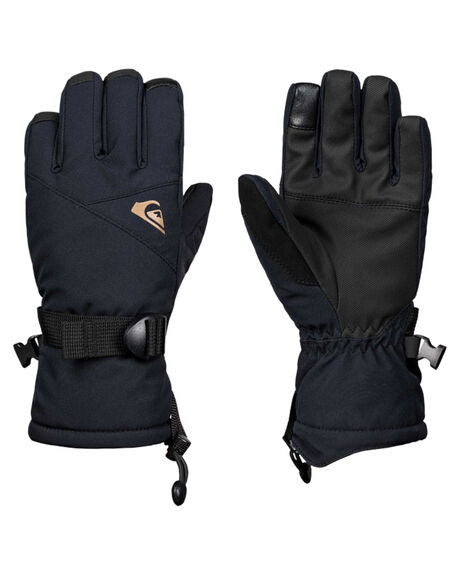BLACK BOARDSPORTS SNOW QUIKSILVER GLOVES - EQBHN03023KVJ0