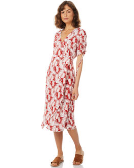 CANYON RED PALM WOMENS CLOTHING RUE STIIC DRESSES - SA18-25-RP-P-CAN