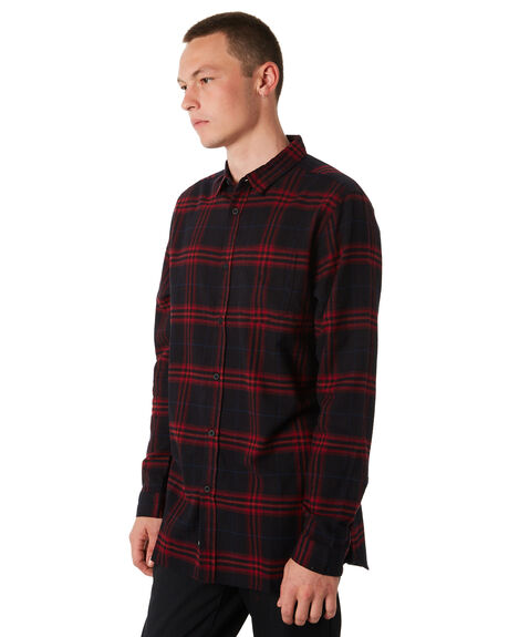 RED MENS CLOTHING GLOBE SHIRTS - GB01734006RED