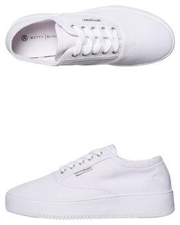 WHITE WOMENS FOOTWEAR BETTY BASICS SNEAKERS - BB902T18WHT