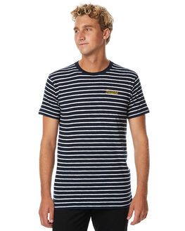 NAVY MENS CLOTHING FEAT TEES - FTSSTR01NVY