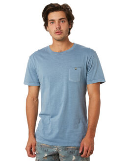 WASHED BLUE MENS CLOTHING RHYTHM TEES - JUL19M-CT02-BLU