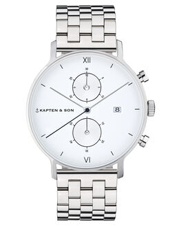 SILVER STEEL MENS ACCESSORIES KAPTEN AND SON WATCHES - KS-CD03A0826F01ASILS