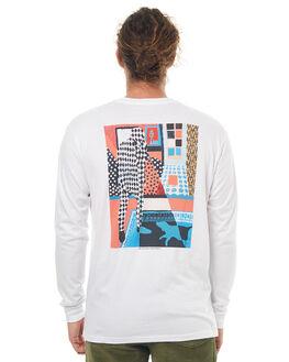 WHITE MENS CLOTHING POLAR SKATE CO. TEES - MWDLSWHT